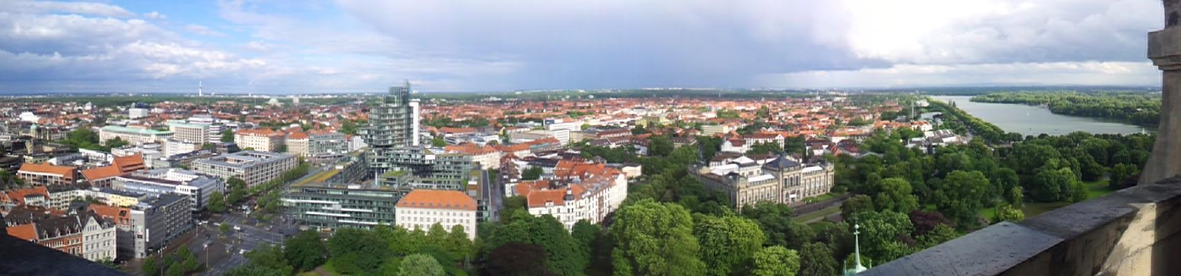 Blick vom Neuen Rathaus Richtung Süd-Osten