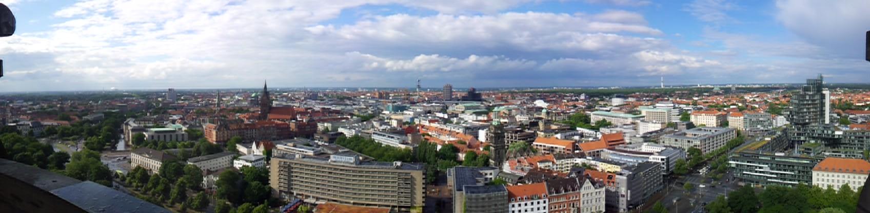 Blick vom Neuen Rathaus Richtung Norden
